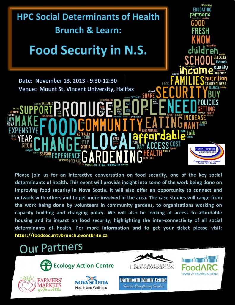 health-promotion-clearinghouse, food-security, halifax, determinants-of-health, events