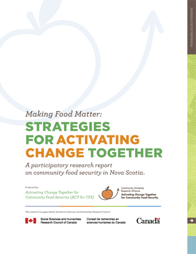 Report Cover - Making Food Matter - Strategies for activating change together
