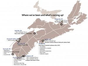 Map of Nova Scotia.