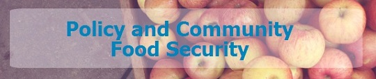 Graphic banner - Policy and Community Food Security