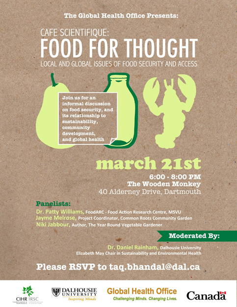 Cafe Scientifique: Food for Thought - Local and global issues of