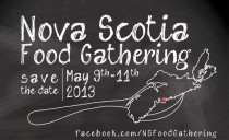Promo graphic - Nova Scotia Food Gathering May 9, 2013