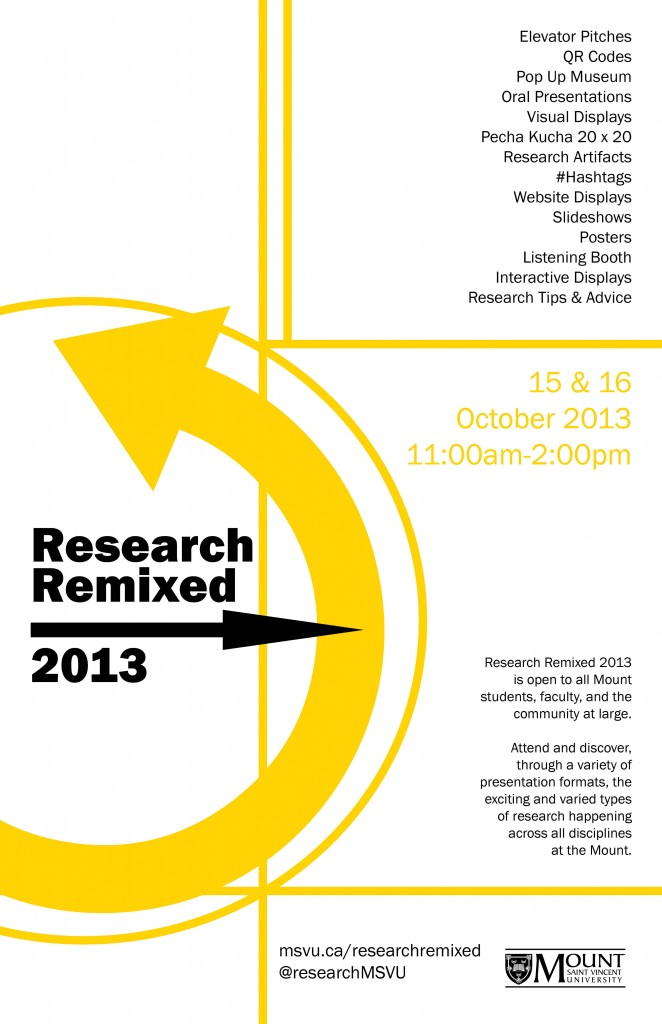 research-remixed, MSVU, event, research, Halifax