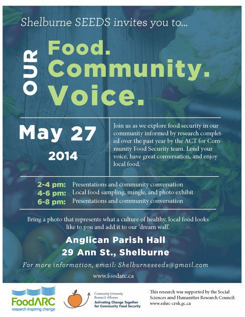Our Food, Our Community, Our Voice - May 24, 2014