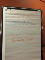 Comments from the virtual classroom session, Our Food Systems: Are you Hungry for Change?