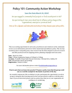 Policy 101: Community Action Workshop