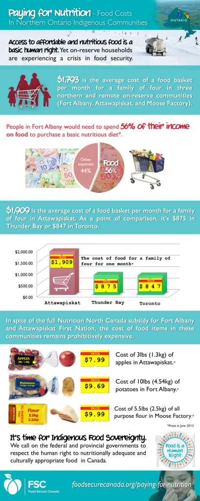 Infographic – Food Costs In Northern Ontario Indigenous Communities