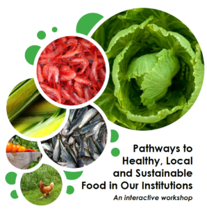 Poster - Pathways to Healthy, Local and Sustainable Food in our Institutions: An Interactive Workshop