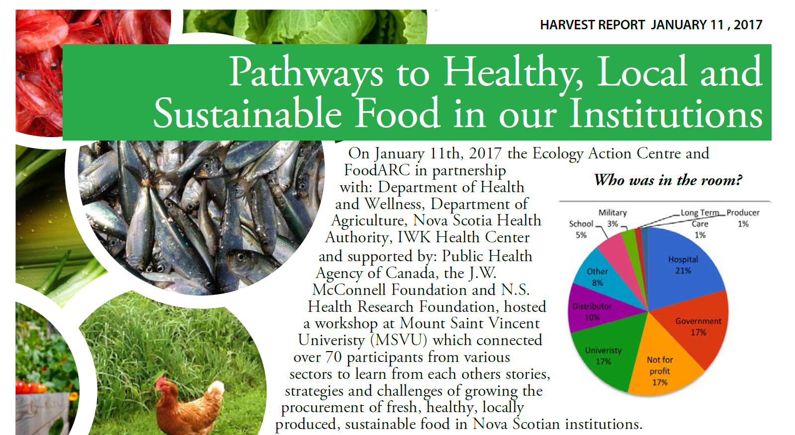 Pathways to Healthy, Local and Sustainable Food in our Institutions: Harvest Report 2017