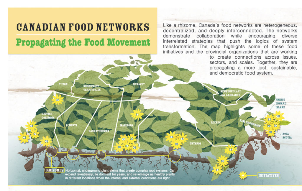 Infographic - Propagating the Food Movement: Provincial Networks and Social Mobilization in Canada.
