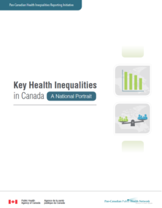 Report cover - Key Health Inequalities in Canada - A National Portrait