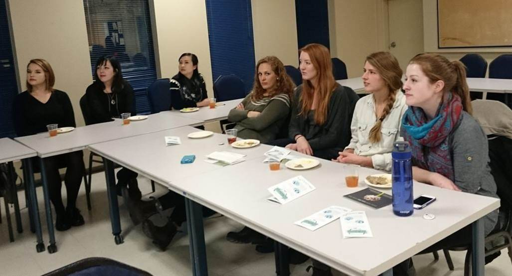 Participants at Meal Exchange event hosted by USC Canada