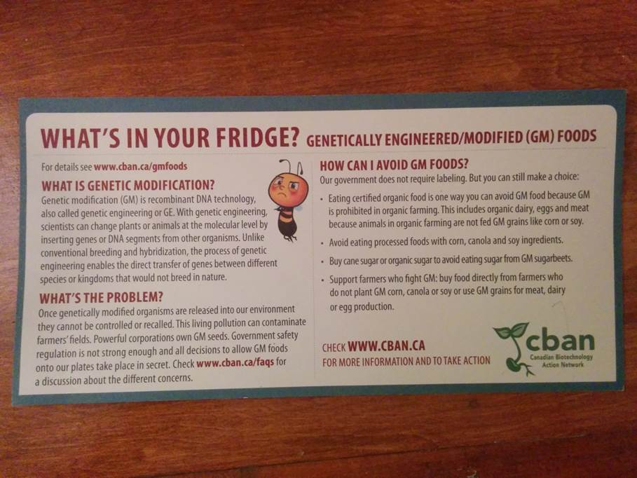Graphic - What's In Your Fridge? Genetically engineered/modified (GM) foods.