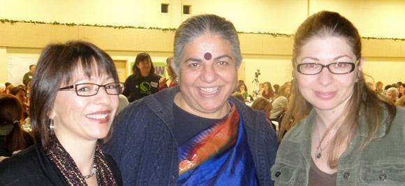 Left to right: Patty Williams, Vandana Shiva, Irena Knezevic
