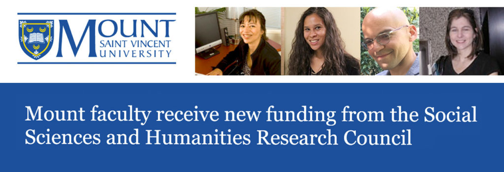 Mount faculty receive new funding from the Social Sciences and Humanities Research Council