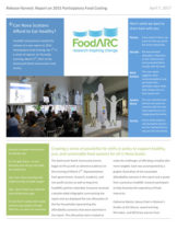 Report cover - Release Harvest: Report on 2015 Participatory Food Costing