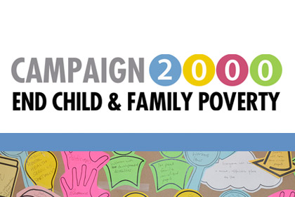 Graphic - Campaign 2000 - End Child & Family Poverty.