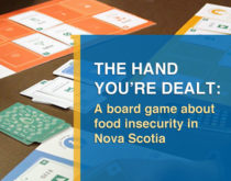 Graphic - The Hand You're Dealt: A board game about food insecurity in Nova Scotia