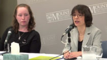 Photo - Media release of the 2010 NS Participatory Food Costing report at MSVU.
