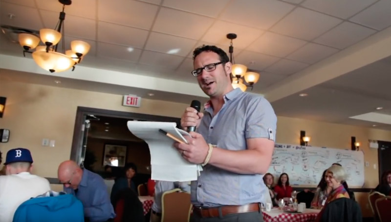 Tim Merry opens up the Art of Hosting training in Halifax, NS with a wonderful beat poem that touches on the need for strategic conversations in our world, especially in Nova Scotia.