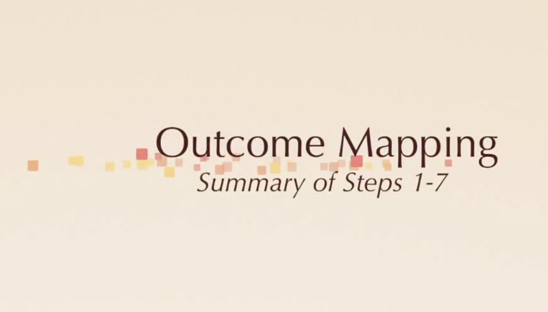 Outcome Mapping: Summary of Steps 1 to 7.