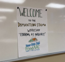Welcome sign for Dismantling Stigma